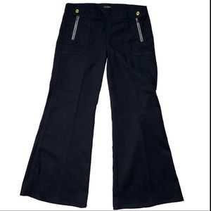 7 for All Mankind Black Wide Leg Flare Pants Jeans